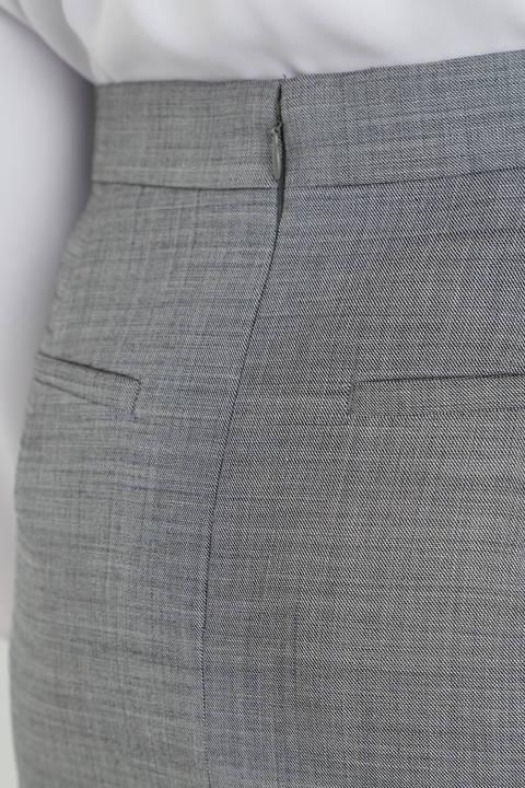 【ドラマ 波瑠さん着用】シルクウールギャバストレッチセットアップスカート