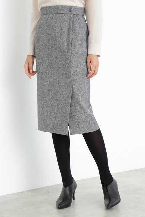 【先行予約 11月上旬-中旬入荷予定】クラシカルツィードスカート