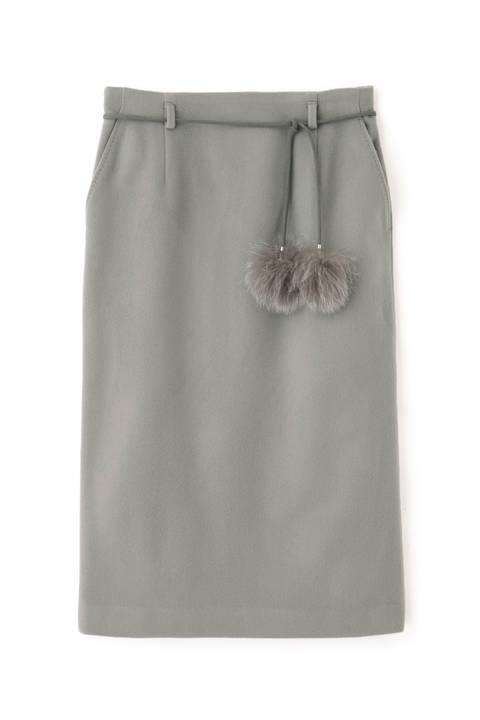 【先行予約 12月中旬-下旬入荷予定】ウールビーバーセットアップスカート