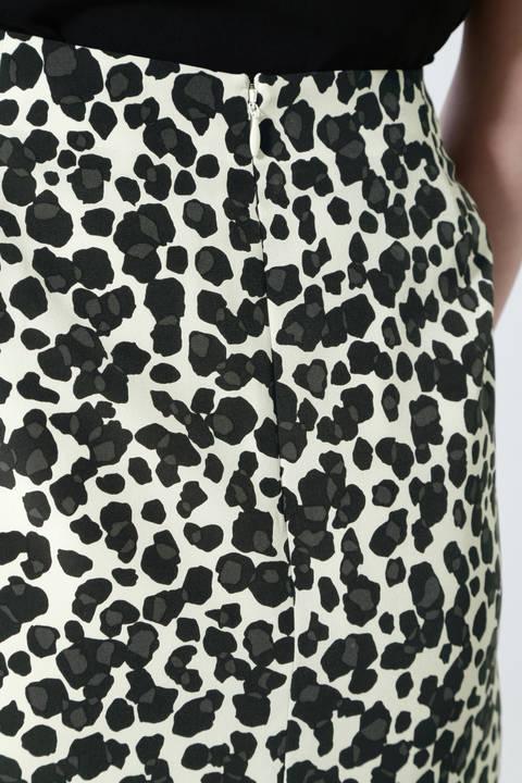 [ウォッシャブル]《B ability》レオパードプリントスカート