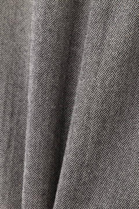 ベルト付ヘリンボーンタイトスカート