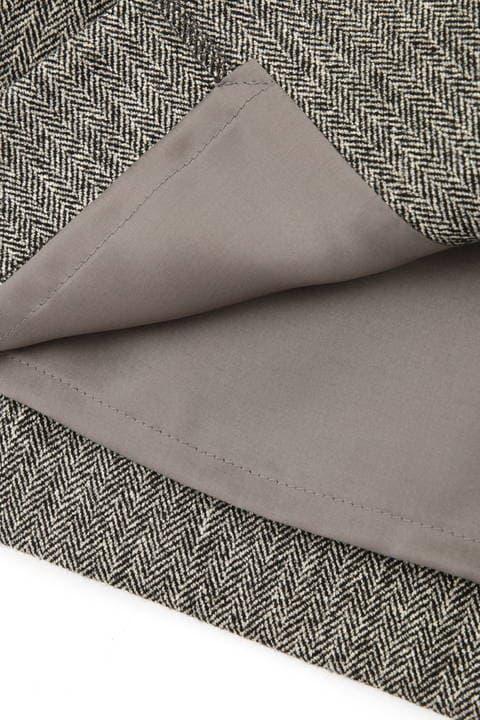 [WEB限定商品]ヘリンボーンフロントジップスカート