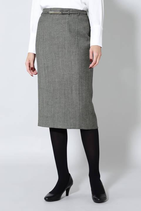 杢ツィードセットアップスカート