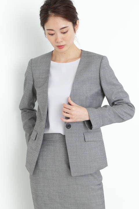 【ドラマ 波瑠さん着用】シルクウールギャバストレッチセットアップジャケット