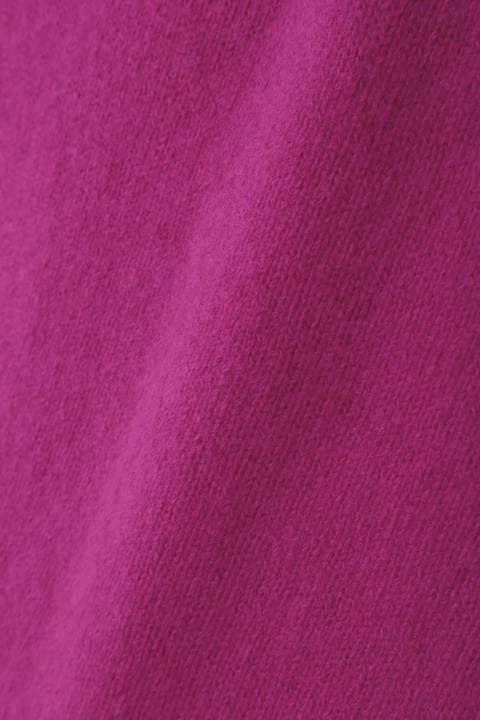 [パープル WEB限定商品]【雑誌 Oggi 12月号掲載】メリノウーレンミドルゲージタートルネックニット