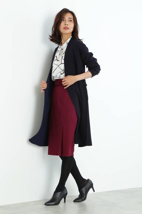 【雑誌 CLASSY 11月号掲載】ダブルフェイスコーディガン