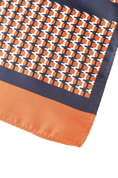 幾何柄プリントスカーフ