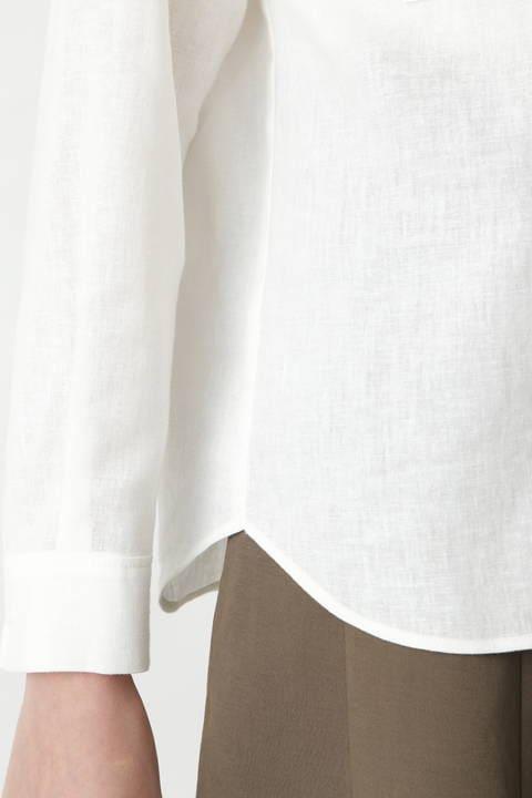 麻混ダブルポケットシャツ