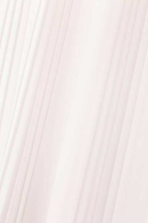 [ウォッシャブル]ミックスプリーツブラウス