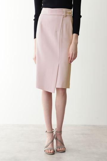 [ウォッシャブル]ダブルクロスラップ風スカート