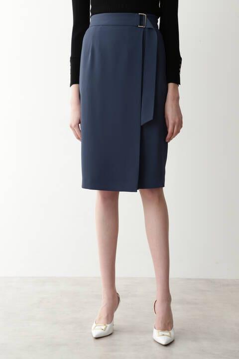 Wサテンラップスカート