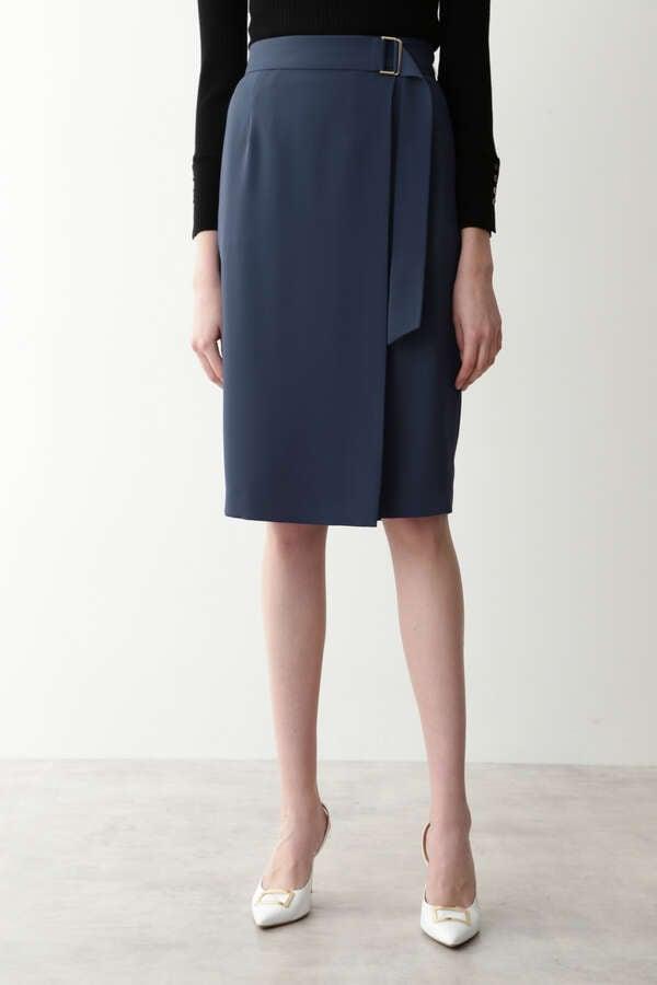 [ウォッシャブル]Wサテンラップスカート