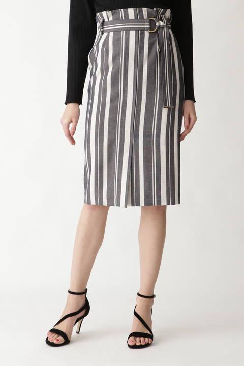 ドビーストライプタイトスカート