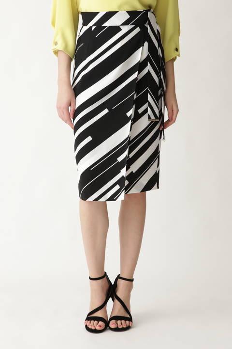 [ウォッシャブル]バイヤスマルチボーダースカート