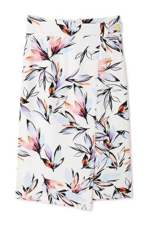 【先行予約 3月中旬-下旬入荷予定】【WEB限定商品】ルミナスフラワープリントスカート
