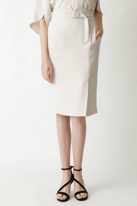 【先行予約 3月上旬-中旬入荷予定】ソフトダブルクロスハイウエストスカート