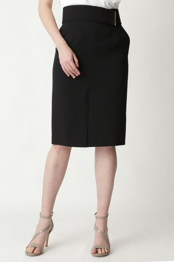 【先行予約 3月下旬-4上旬入荷予定】メタルバーベルト付きタイトスカート