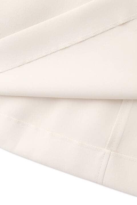 [ウォッシャブル]高密度サテンミモレ丈ラップスカート