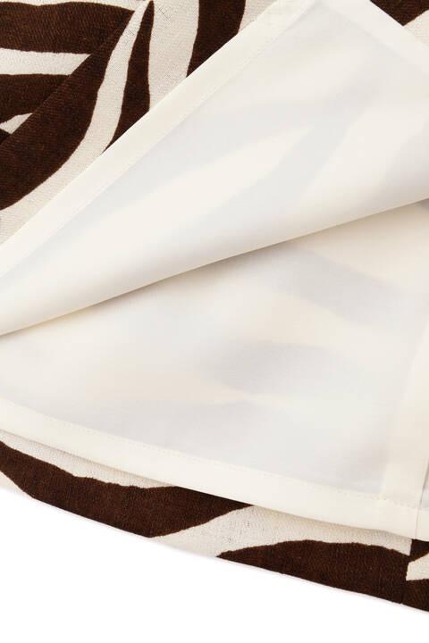 [ウォッシャブル]ゼブラプリントミモレ丈スカート