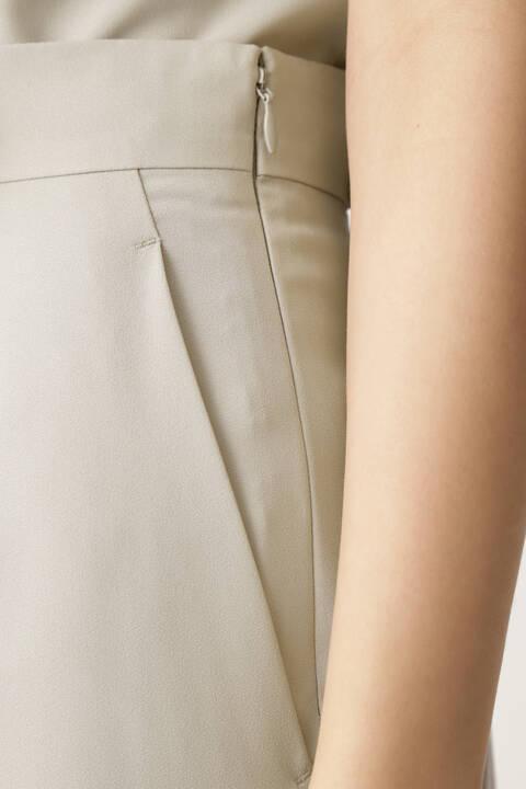サイドプリーツラップ風セットアップスカート