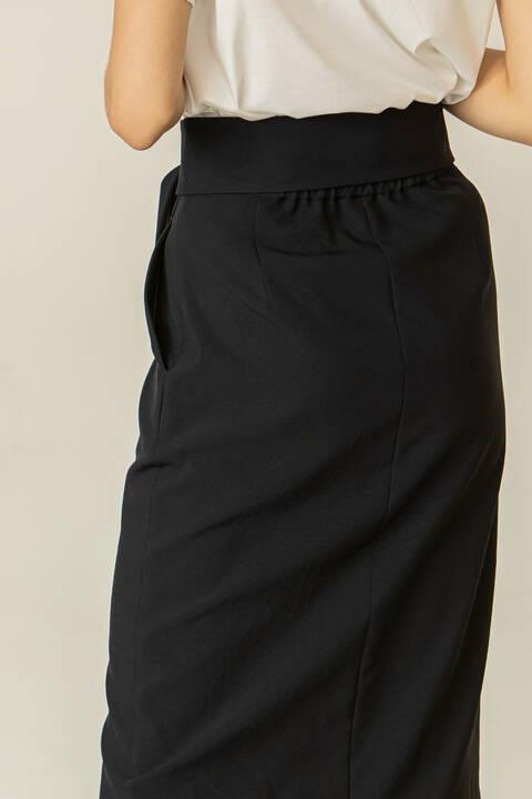 [ウォッシャブル]フロントメタルドットスカート