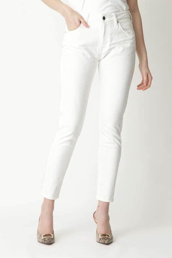 [ウォッシャブル]ホワイトデニム
