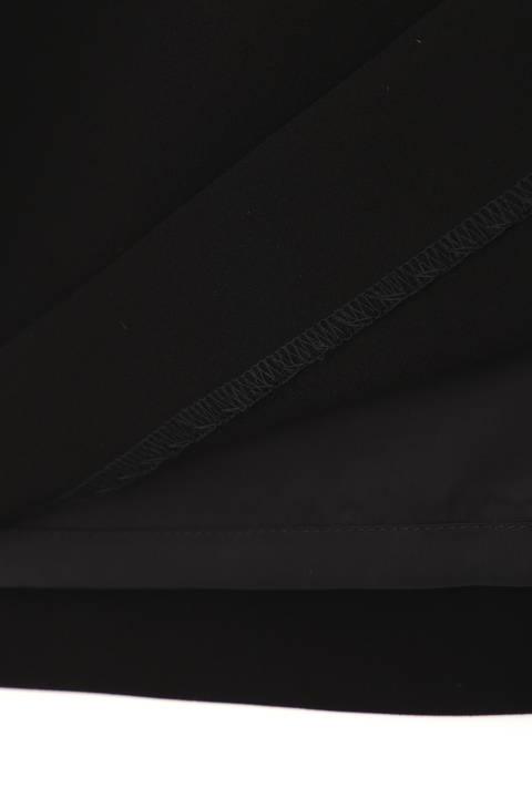 パールボタンタックドレープベルト付きワンピース