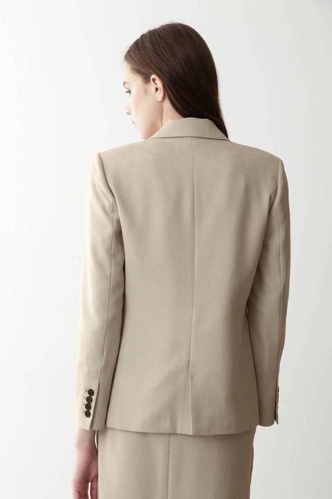 麻調合繊テーラードジャケット