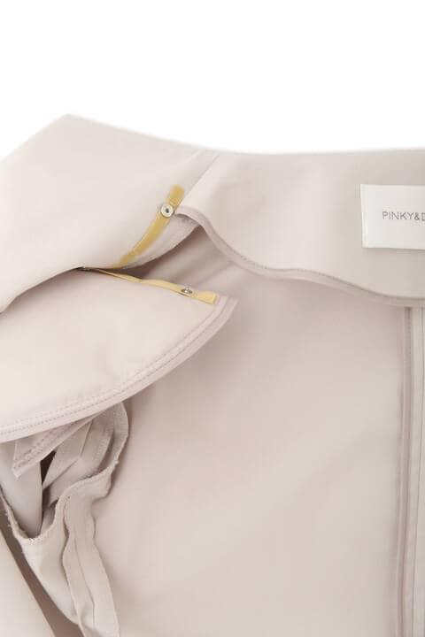 [ウォッシャブル]ノーカラーツイルジャケット
