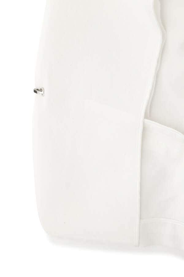 ドライポプリンノーカラーセットアップジャケット