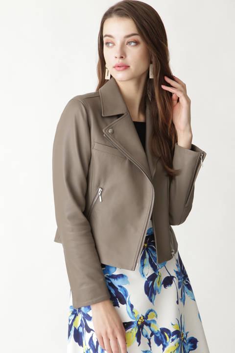 シープレザーライダースジャケット