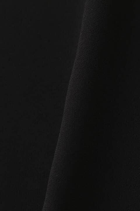 [ウォッシャブル]スタンドカラーカットアウトブラウス