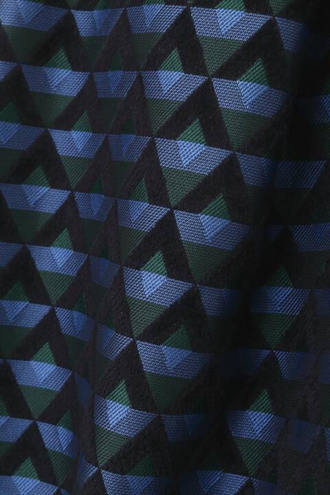 ジャガードミモレ丈タックスカート