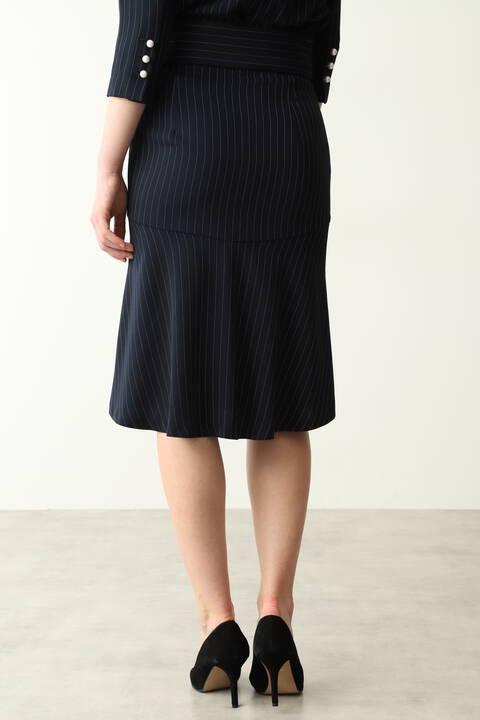 【先行予約 8月下旬-9月上旬入荷予定】ピンストバックマーメイドセットアップスカート