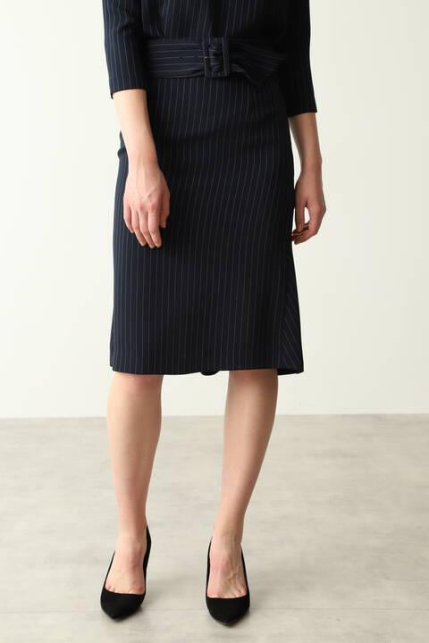 ピンストバックマーメイドセットアップスカート