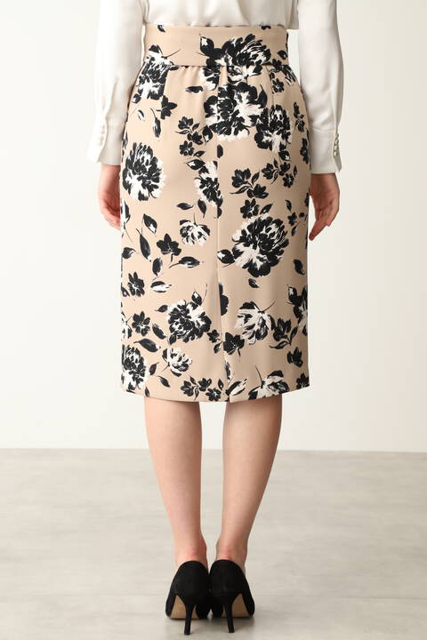 ピオニープリントタイトスカート