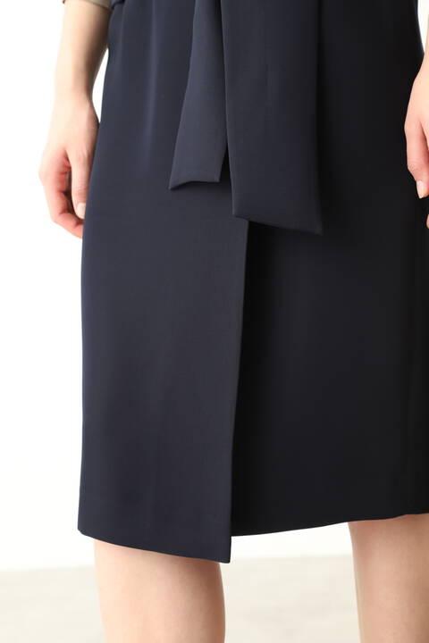 ラップリボンタイトスカート