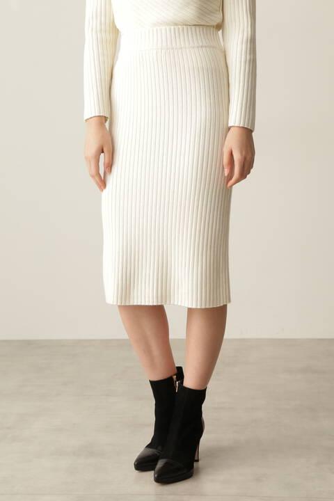 【先行予約 10月中旬-下旬入荷予定】タイトRIBスカート