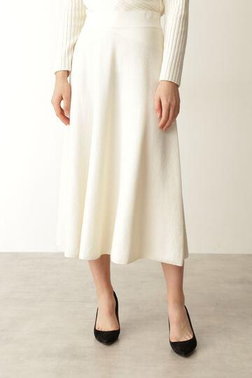 【先行予約 10月中旬-下旬入荷予定】ニットフレアースカート