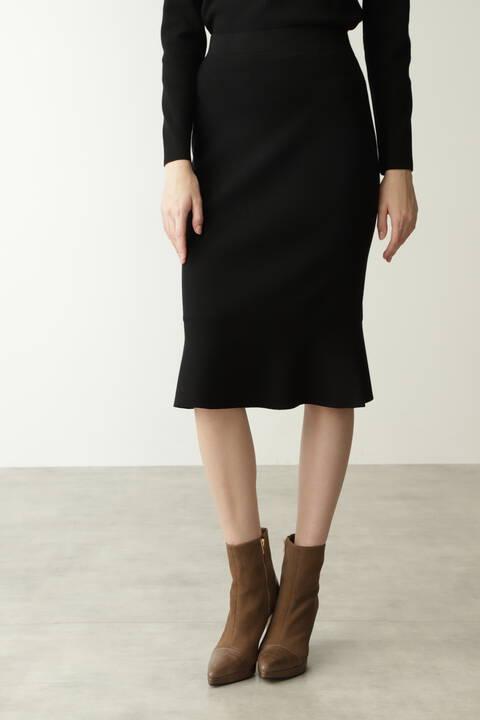 【先行予約 11月下旬-12月上旬入荷予定】ペプラムニットスカート
