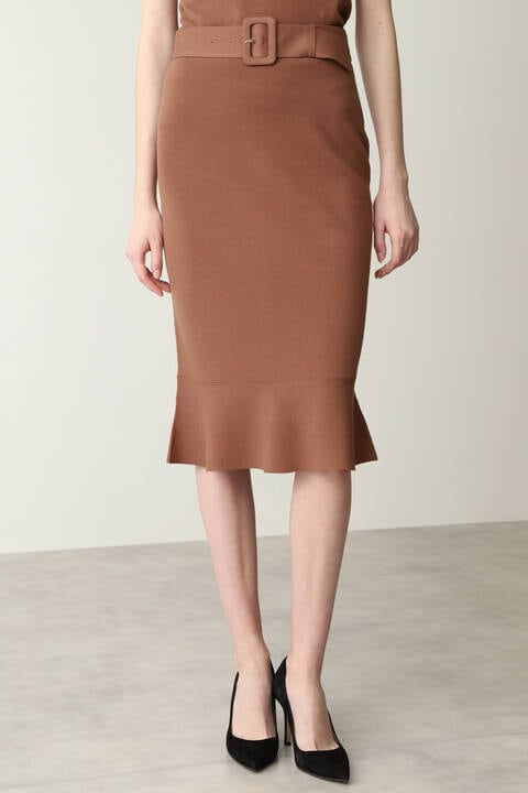【先行予約 7月下旬-8月上旬入荷予定】ペプラムニットセットアップスカート