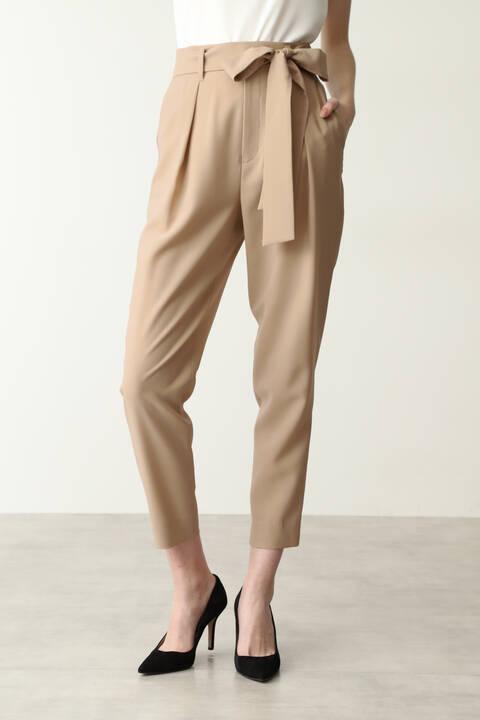 【先行予約 7月下旬-8月上旬入荷予定】リボン付きタックパンツ