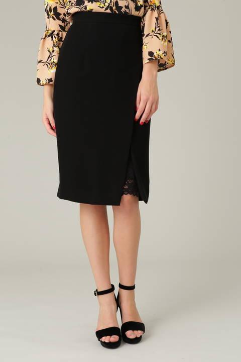 パウダリーツイルラップ風スカート