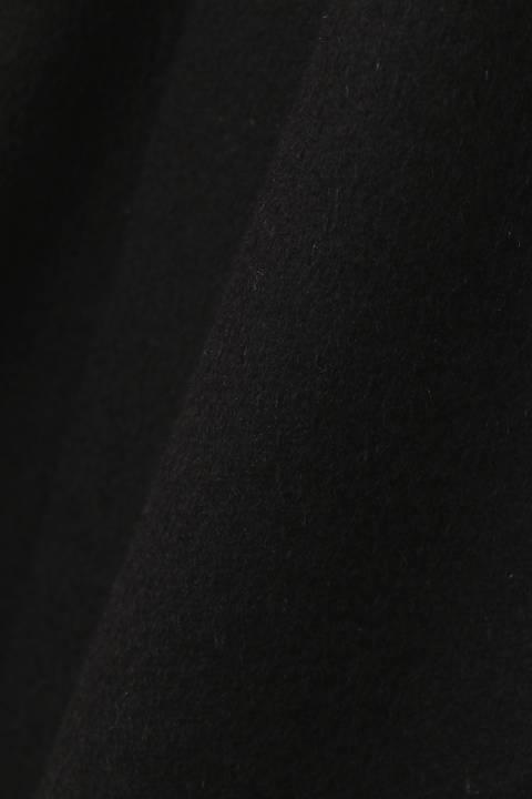 カシミヤ混ビーバーファー付きテーラードコート