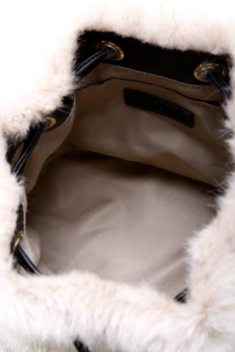 【Oggi 12月号掲載】ファー巾着バッグ