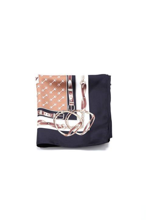プリントシルクスカーフ【15000UNDER】