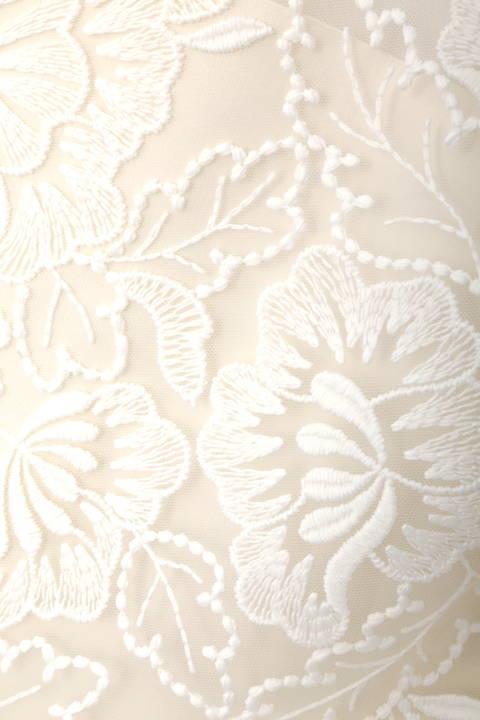 フラワー刺繍レースブラウス