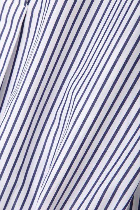 ワイドリボンベルト ストライプシャツ
