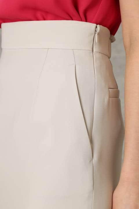 【ドラマ 菅野美穂さんが着用】【ドラマ 泉里香さんが着用】サッシュベルト付き ダブルクロス スカート