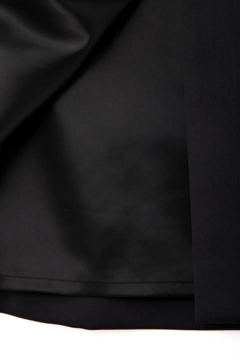 リングバックルベルトミディ丈スカート